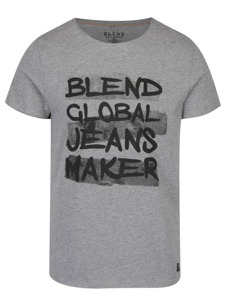 Světle šedé tričko s potiskem Blend