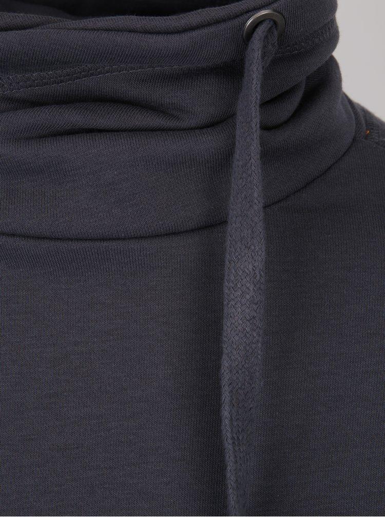Bluza gri inchis cu guler inalt - Blend