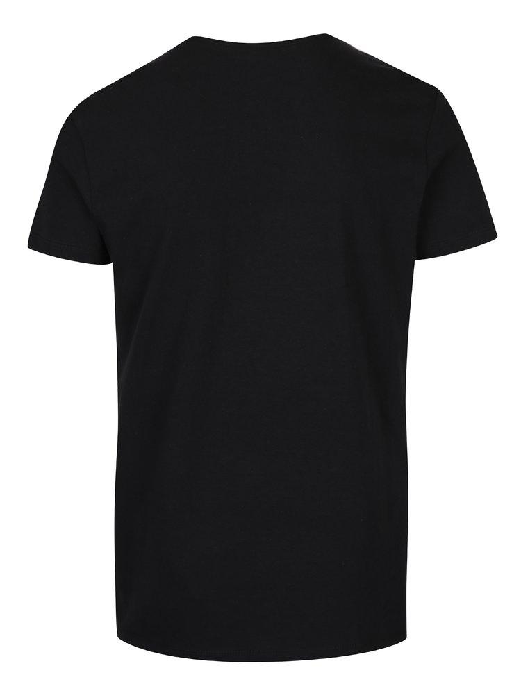 Tricou negru cu print - Blend