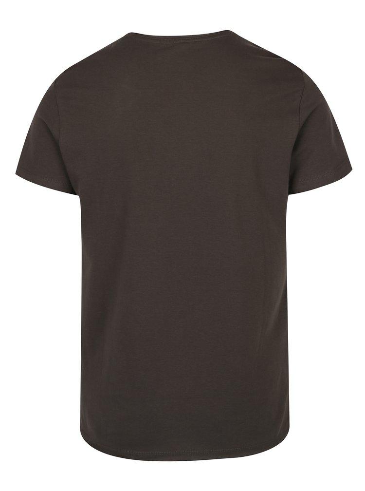 Tmavě zelené tričko s potiskem Blend