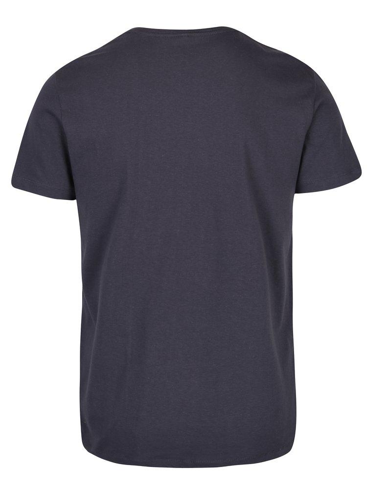 Tmavě šedé tričko s potiskem a krátkým rukávem Blend