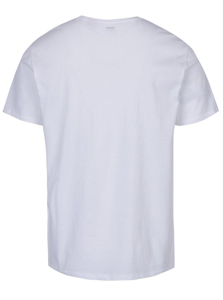 Set 2 tricouri bărbătești basic alb și gri melanj  Levi's®