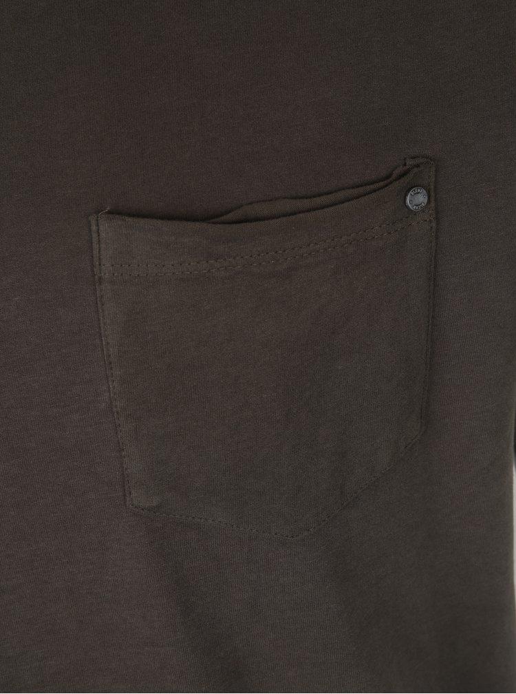 Tricou verde inchis din bumbac cu buzunar aplicat - Blend