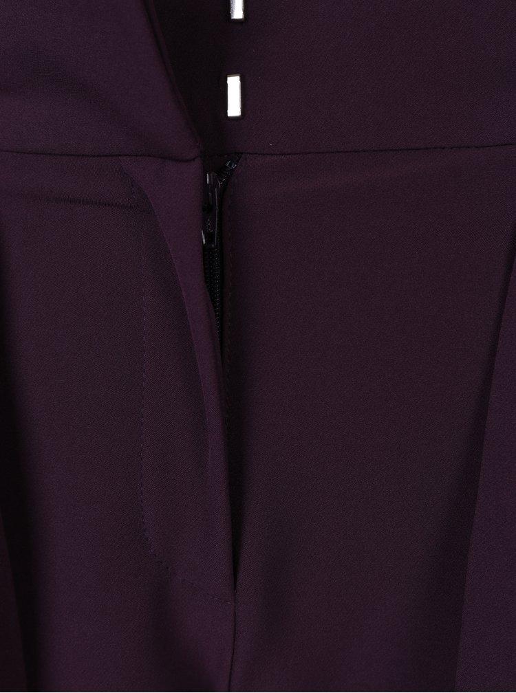 Fialové kalhoty s páskem Dorothy Perkins