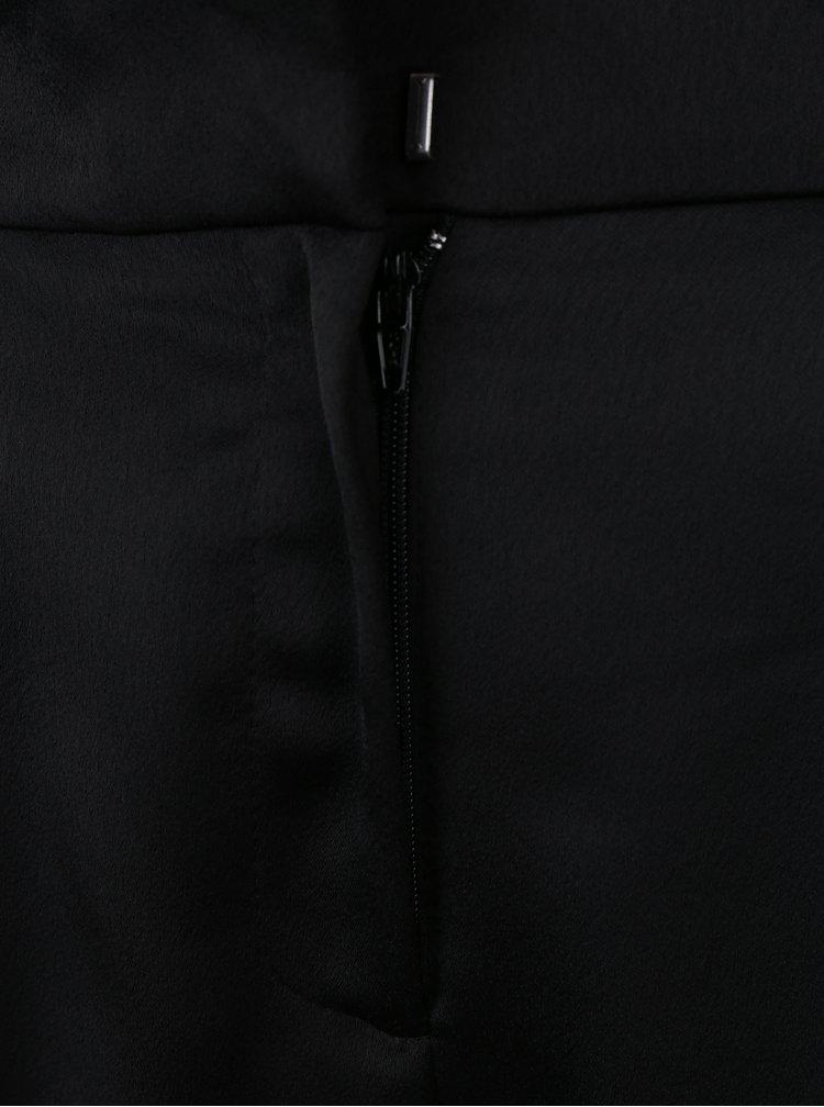 Černé lesklé zkrácené kalhoty Dorothy Perkins
