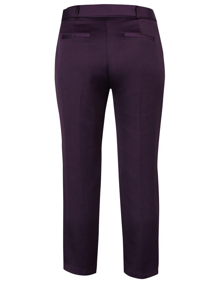 Fialové lesklé zkrácené kalhoty Dorothy Perkins