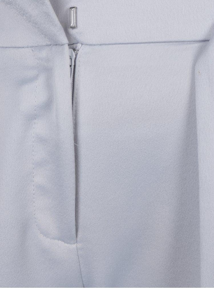 Lesklé zkrácené kalhoty ve stříbrné barvě Dorothy Perkins
