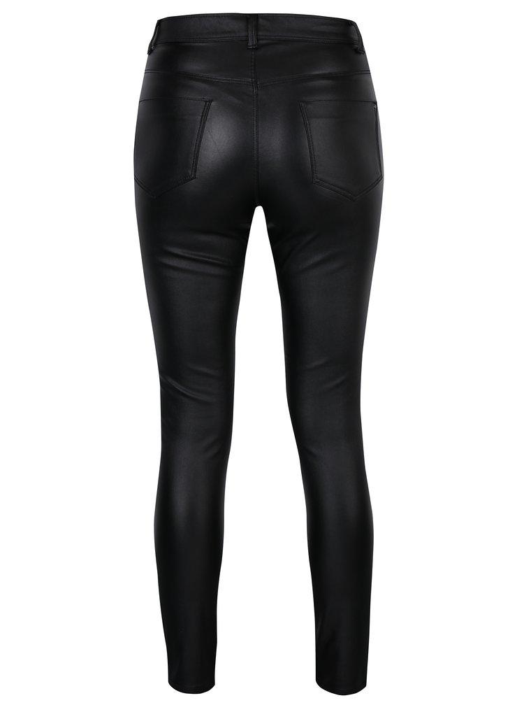 Černé lesklé skinny kalhoty Dorothy Perkins
