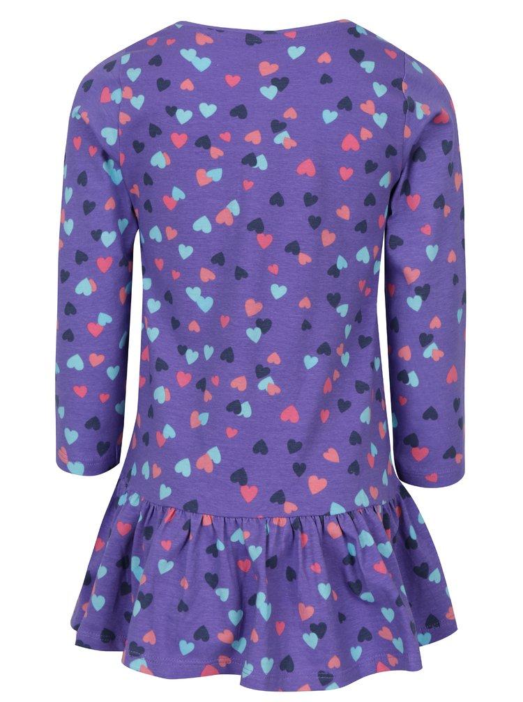 Fialová holčičí vzorovaná tunika s dlouhým rukávem 5.10.15.