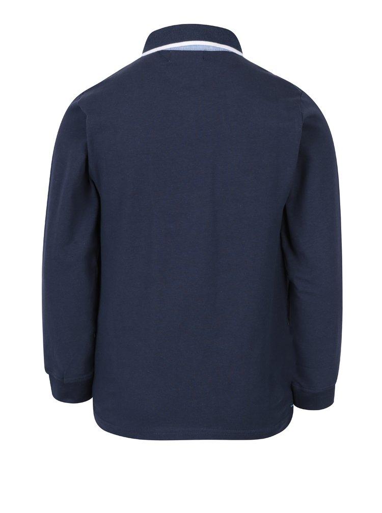 Tmavě modré klučičí polo tričko s dlouhým rukávem 5.10.15.