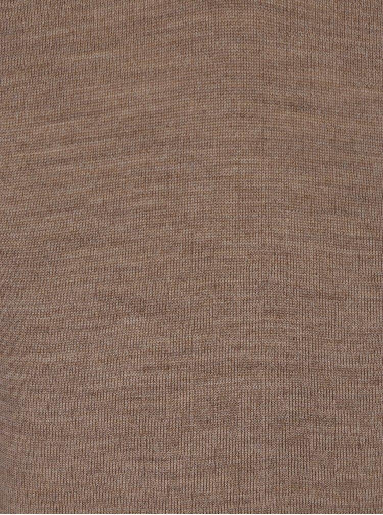 Béžový lehký svetr z Merino vlny Selected Homme Tower