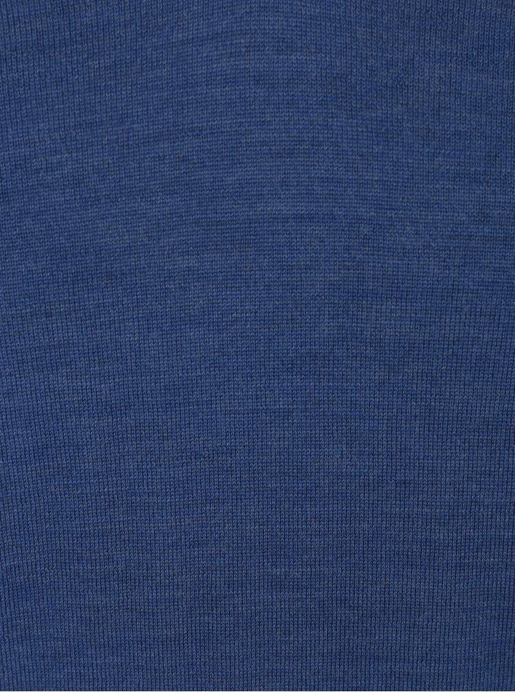 Pulover albastru din lana merino pentru barbati - Selected Homme Tower