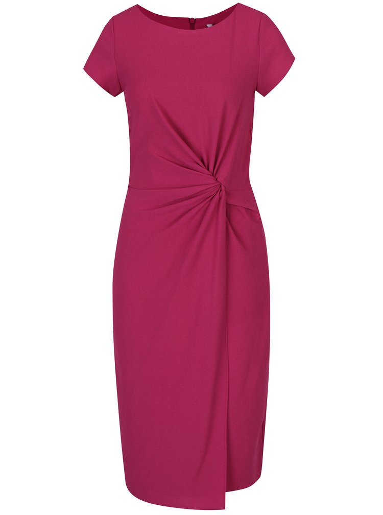 Tmavě růžové šaty s uzlem Dorothy Perkins