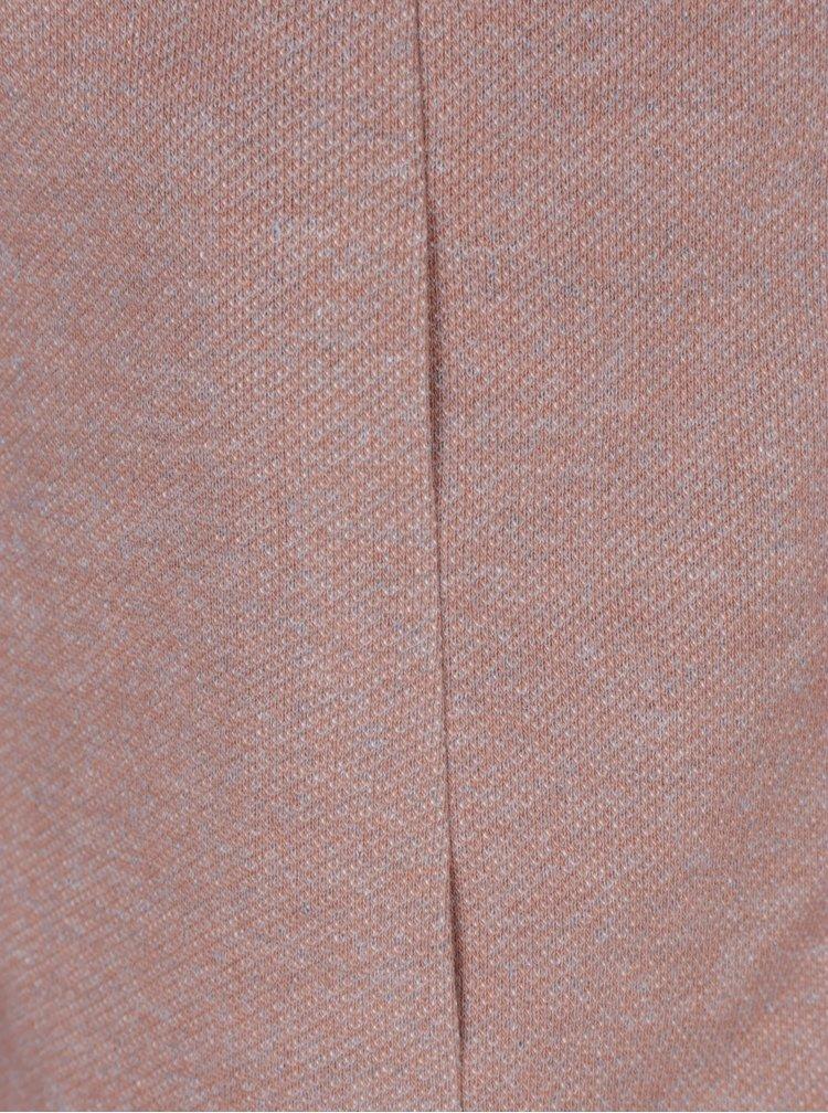 Staroružový melírovaný tenký kabát s kapucňou ONLY Sedona
