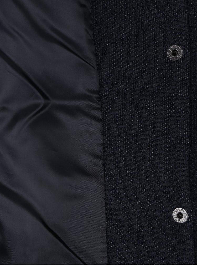 Palton subtire bleumarin cu gluga ONLY Sedona