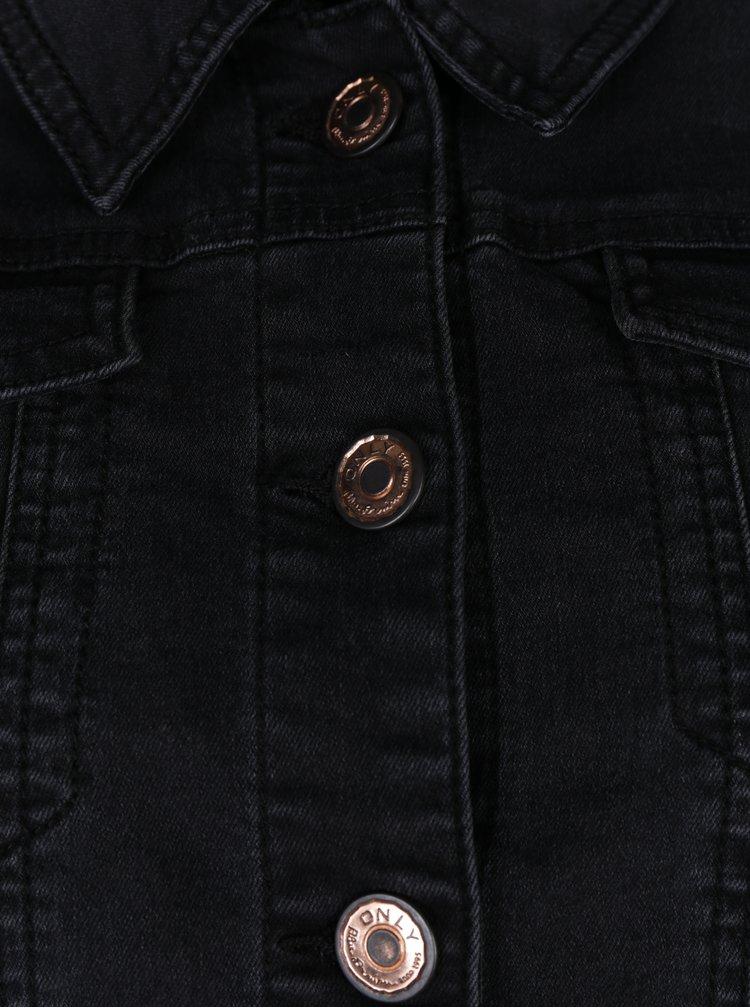Jacheta neagra din denim ONLY Chris