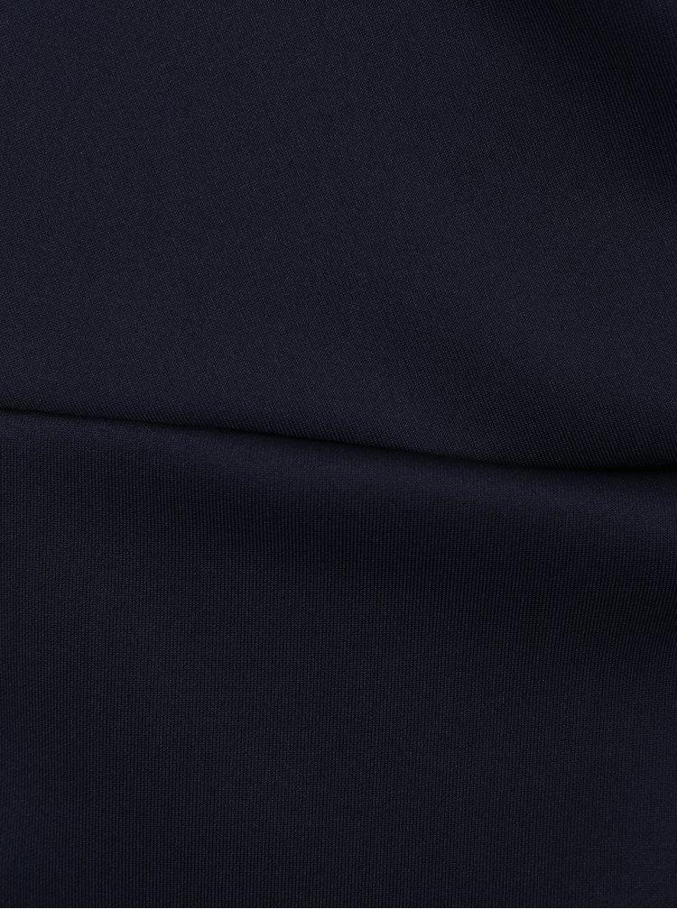 Tmavě modré lesklé pouzdrové šaty s uzlem Dorothy Perkins