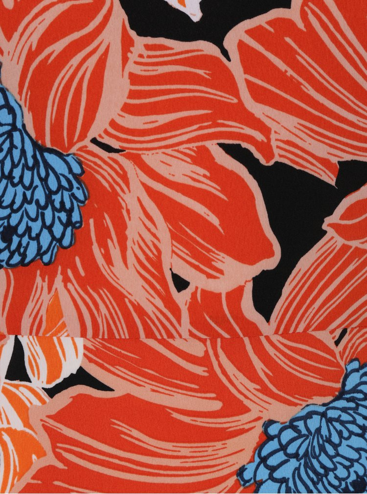 Oranžové květované maxišaty bez rukávů Dorothy Perkins