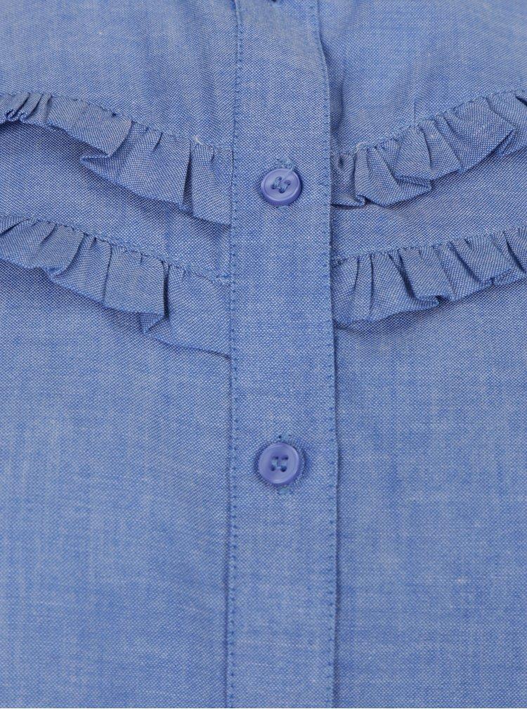 Camasa albastra din denim pentru femei  Dorothy Perkins