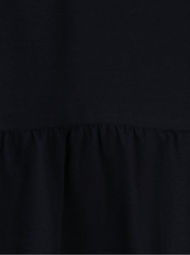 Tmavě modré tričko s 3/4 rukávem a volánem ONLY Live