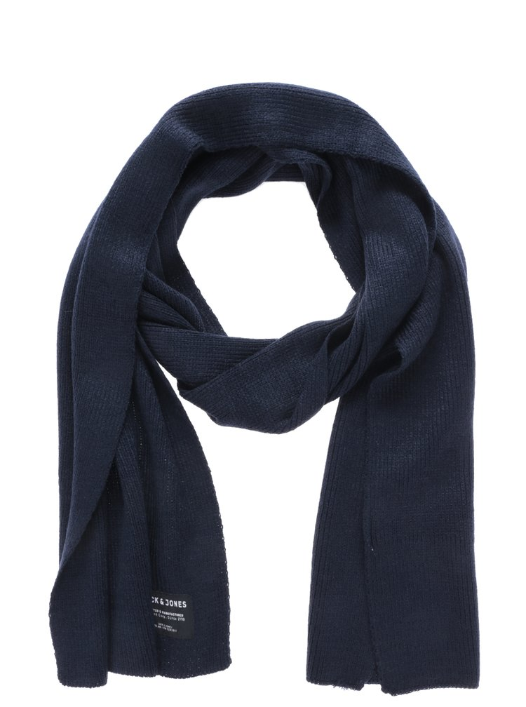 Fular bleumarin tricotat pentru barbati - Jack & Jones Dna