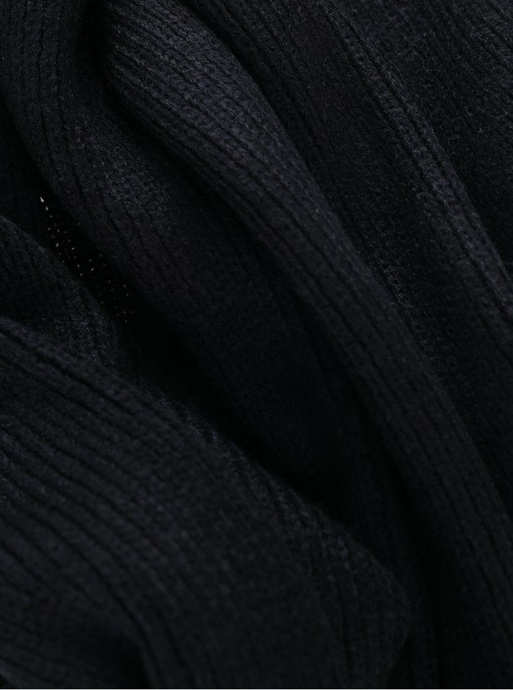 Fular negru tricotat pentru barbati - Jack & Jones Dna