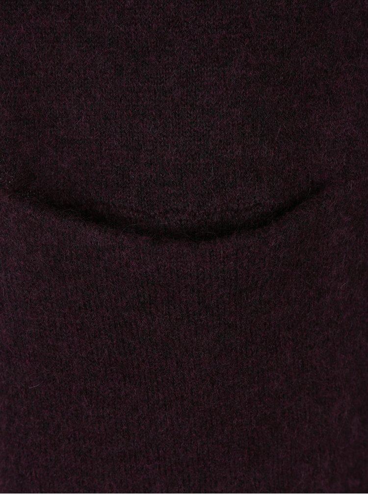 Cardigan lung violet cu amestec de lana si mohair Selected Femme Livana