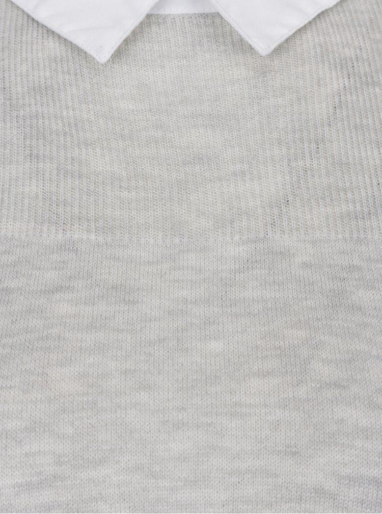 Šedý dámský svetr 2v1 Dorothy Perkins Petite