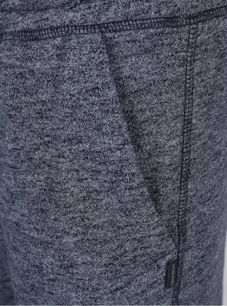 Tmavomodré melírované tepláky s vreckami Jack & Jones Chanson