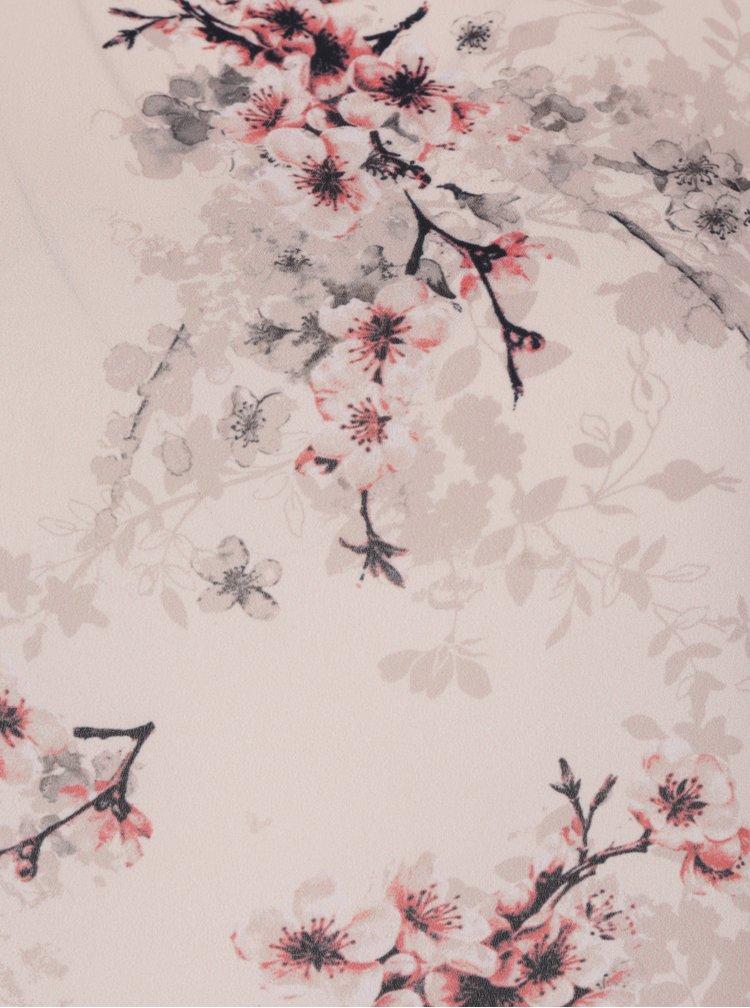 Světle růžová květovaná halenka s krátkým rukávem Dorothy Perkins