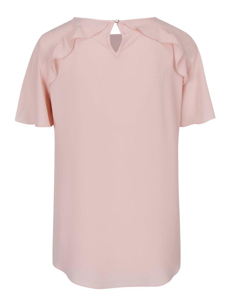 Světle růžová halenka s krátkým rukávem Dorothy Perkins