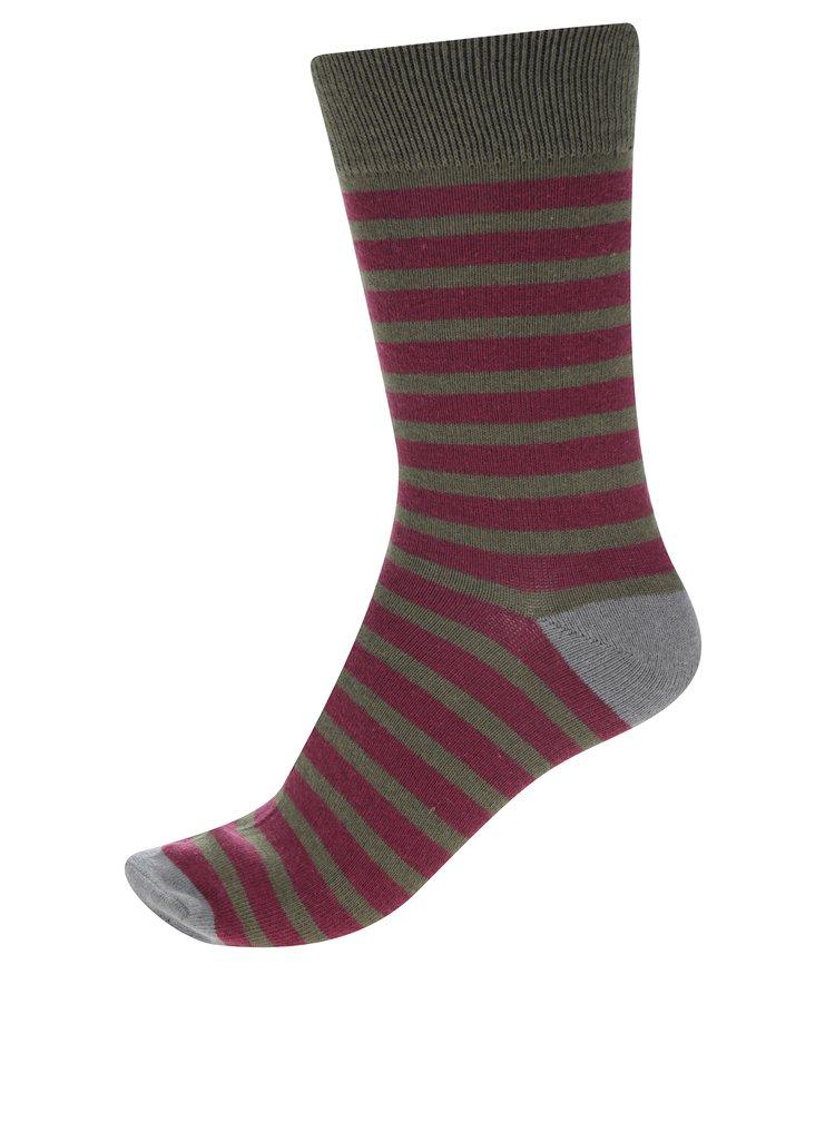Sada tří párů khaki vzorovaných ponožek Blend