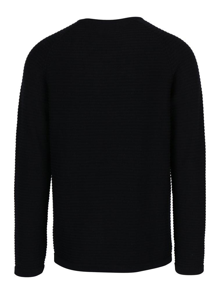 Černý žebrovaný svetr Jack & Jones Wind