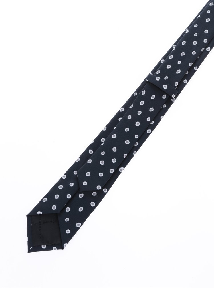 Tmavě modrá vzorovaná kravata Selected Homme New