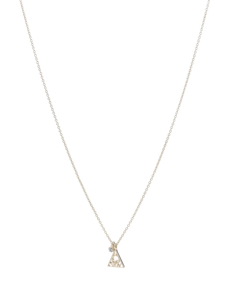Pozlacený řetízek s přívěskem ve tvaru trojúhelníku Pilgrim