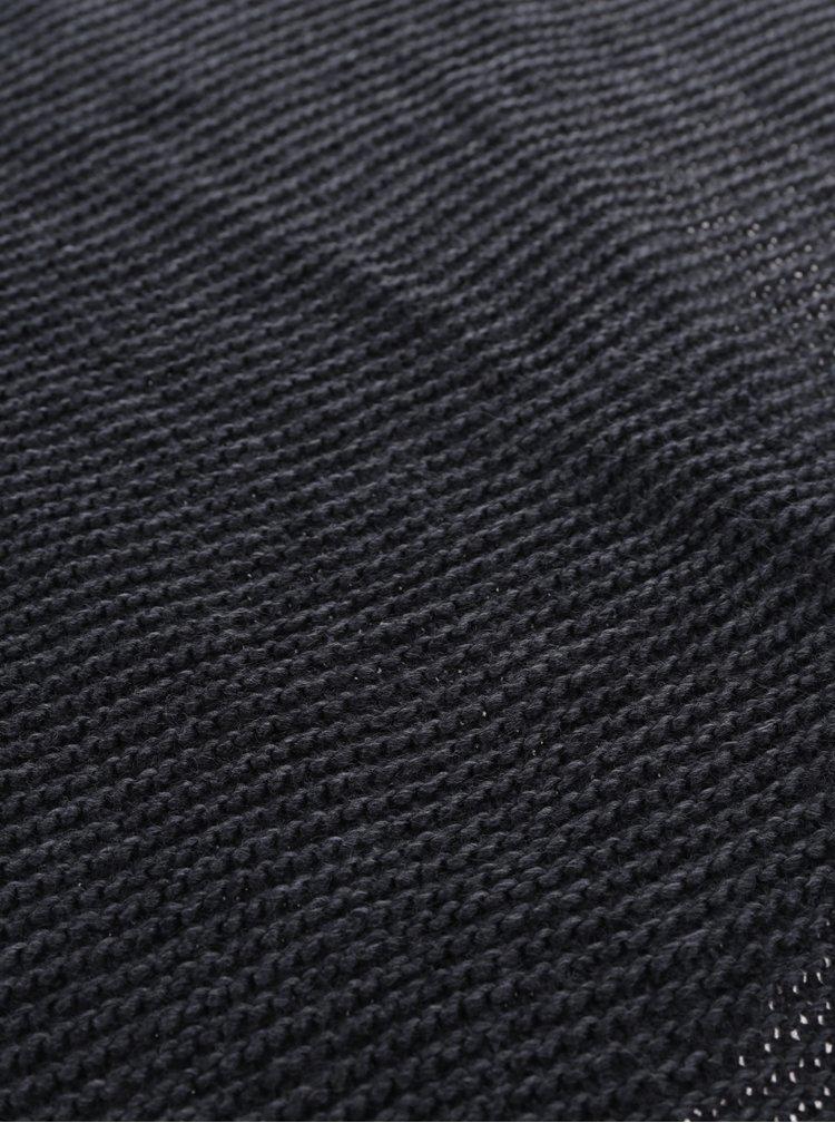 Tmavě šedá pletená šála VERO MODA Misty