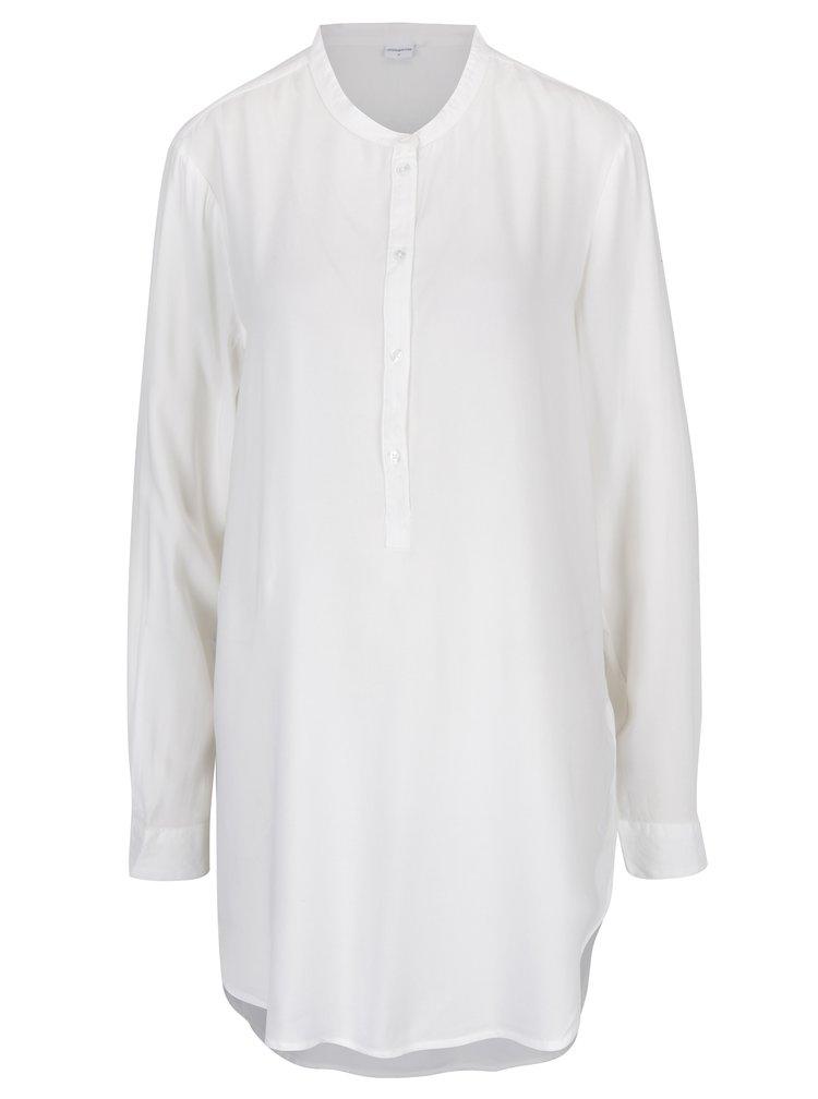 Biela dlhá košeľa Jacqueline de Yong Safira