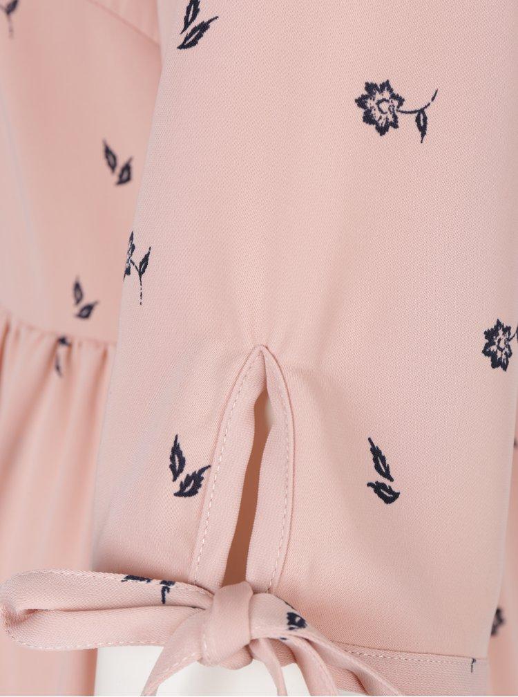 Starorůžové vzorované košilové šaty VERO MODA Adriana