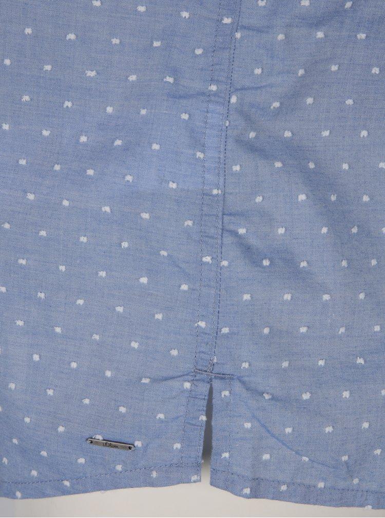 Camasa albastra cambrata cu nasturi s.Oliver