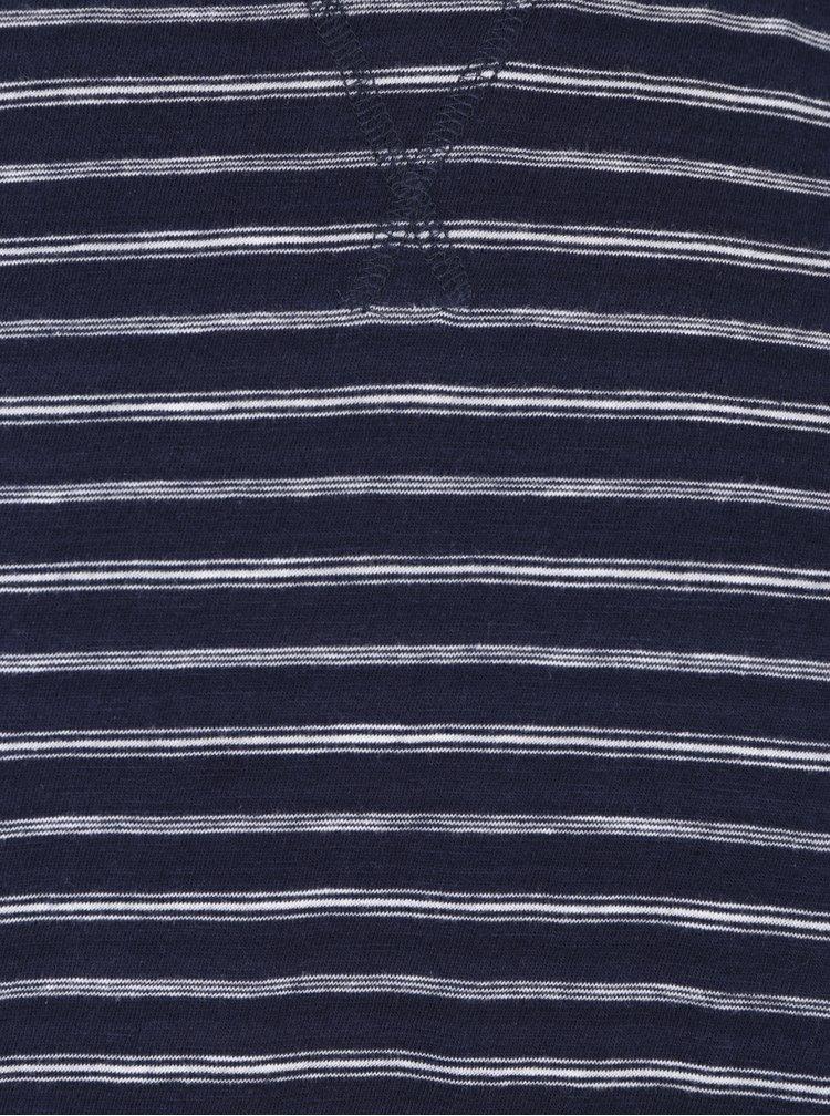 Bluză cu dungi bleumarin & crem pentru bărbați - Lindbergh