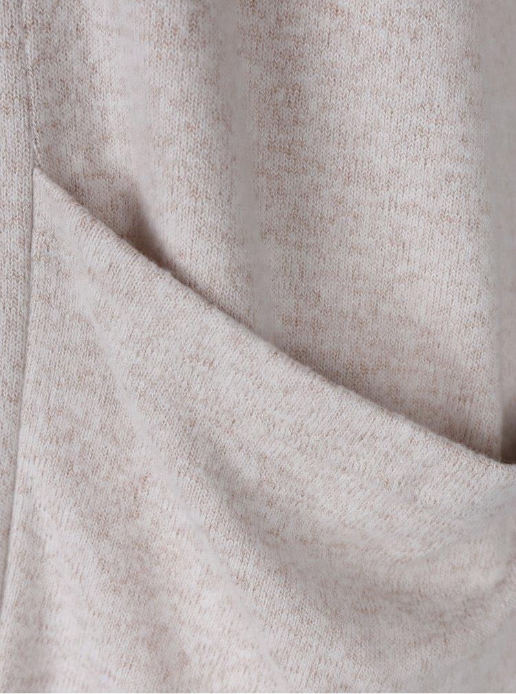 Béžový žíhaný kardigan s kapsami ONLY Maye