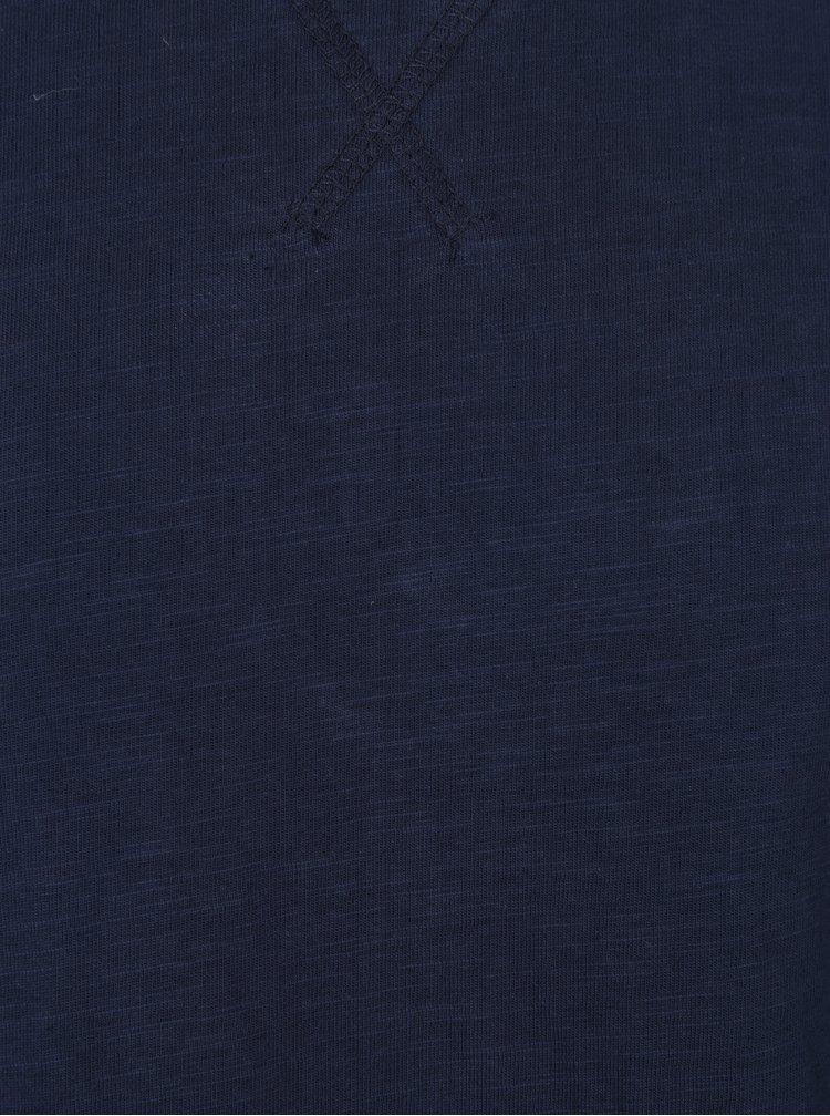 Tmavomodré tričko s dlhým rukávom Lindbergh