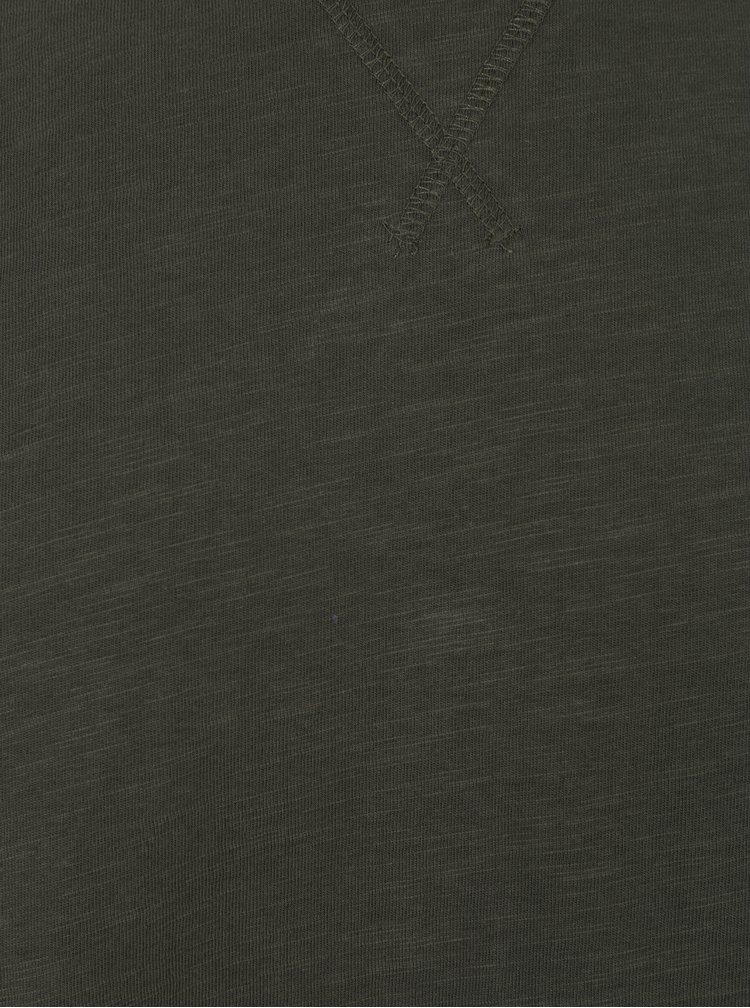 Tmavě zelené tričko s dlouhým rukávem Lindbergh