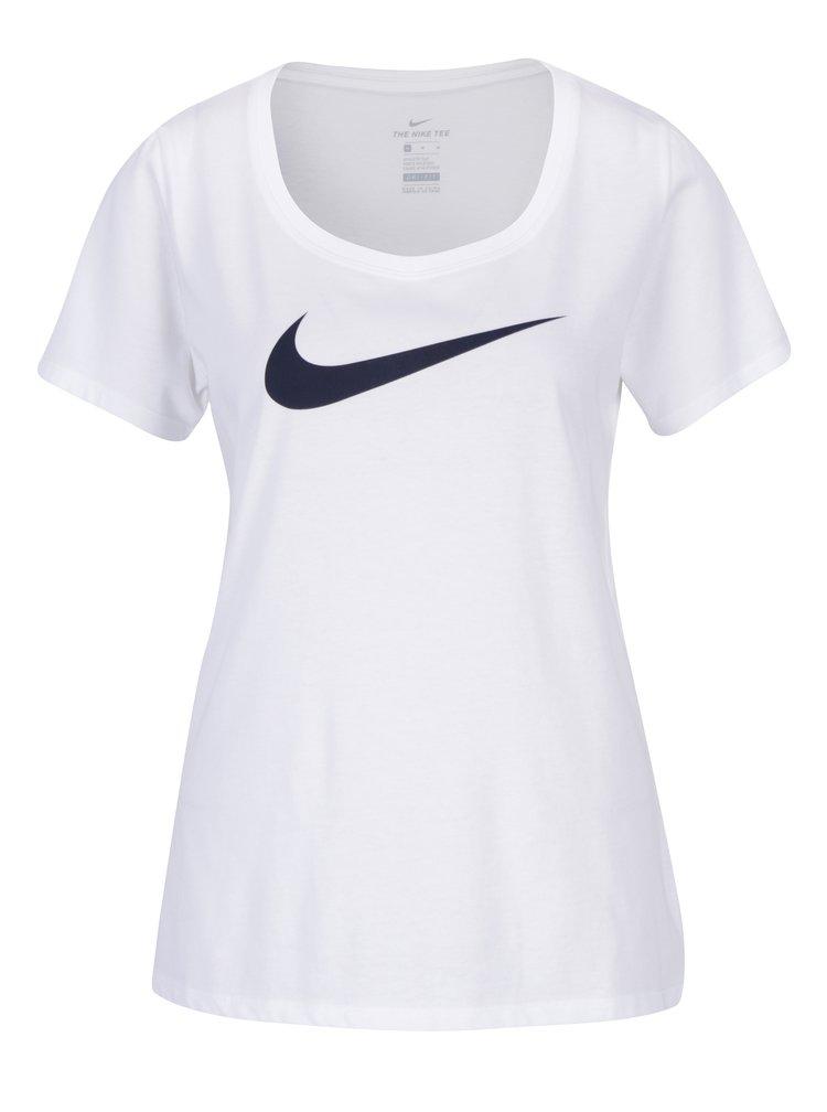 Tricou alb cu logo pentru femei Nike