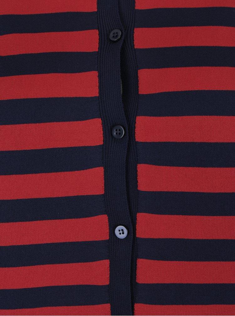 Červeno-modrý pruhovaný kardigan ONLY Bell Lisa