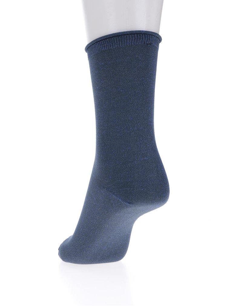 Modré ponožky s třpytivými odlesky Selected Femme Lucy