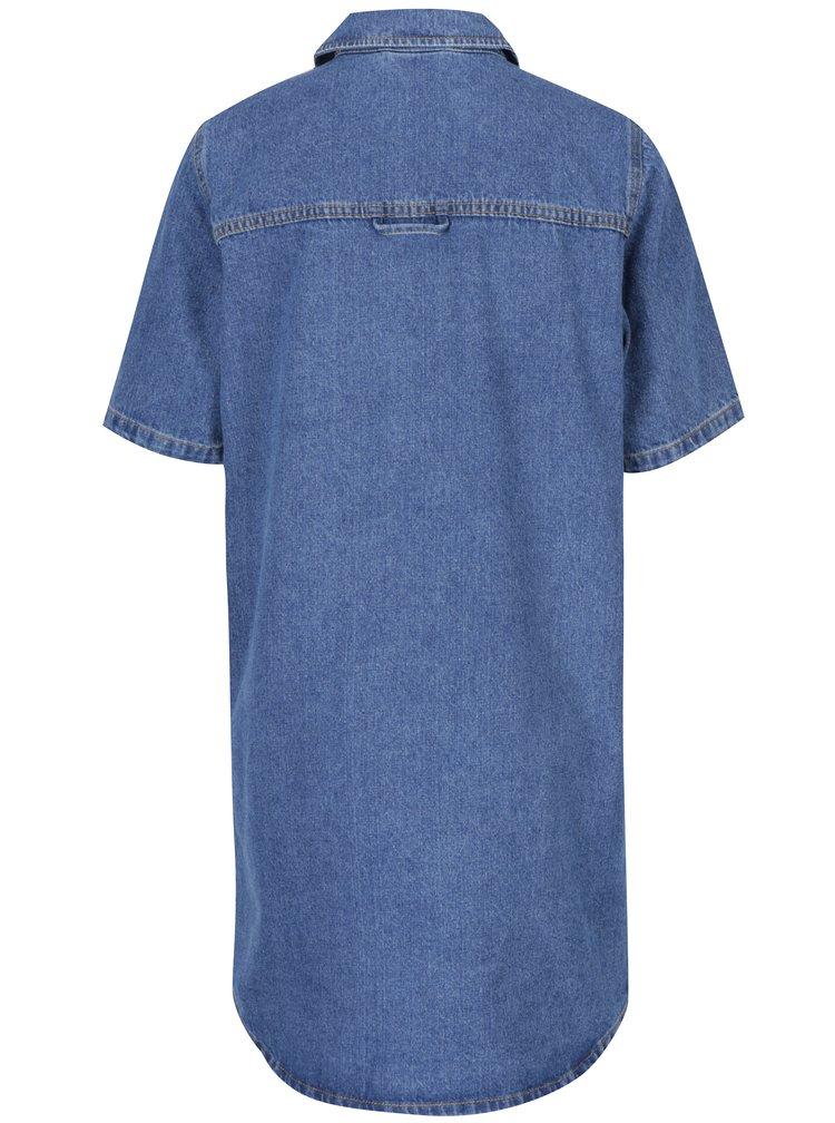 Modré košilové šaty Noisy May Bell