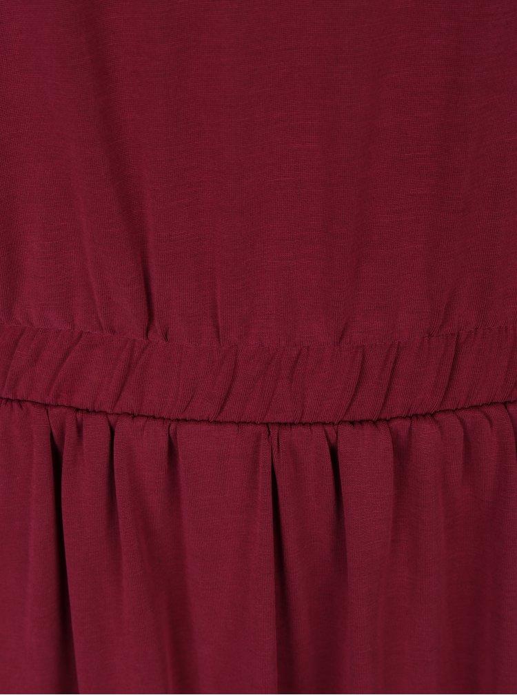 Vínové šaty s dlouhým rukávem VERO MODA Metti