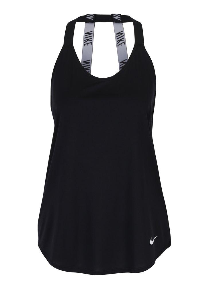 Top sport negru functional cu bretele Nike