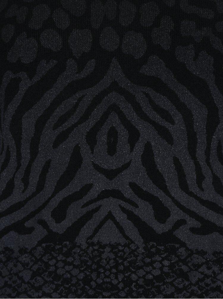 Černý vzorovaný svetr Desigual Gaea